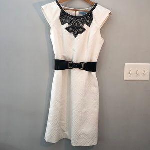 Antonio Melani White Sleeveless A-Line Dress Sz 8
